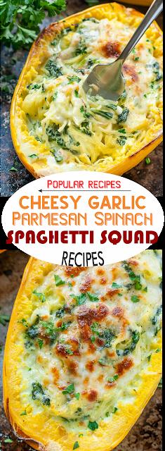 Cheesy Garlic Parmesan Spinach Spaghetti Squash | Show You Recipes #stuffedspaghettisquash Cheesy Garlic Parmesan Spinach Spaghetti Squash | Show You Recipes #stuffedspaghettisquash
