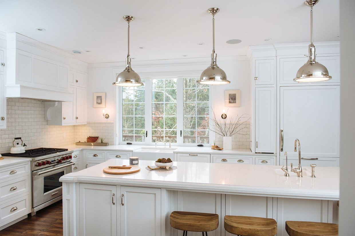 Cabinets in benjamin moore chantilly lace restoration hardware