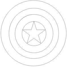Captain America Shield Template Print Out Google Search