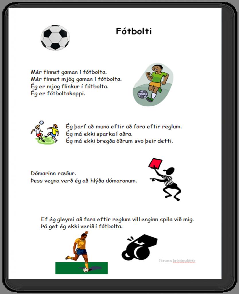 Kennsla Nemenda Med Sertharfir Social Stories Teaching Kindergarten [ 1024 x 833 Pixel ]