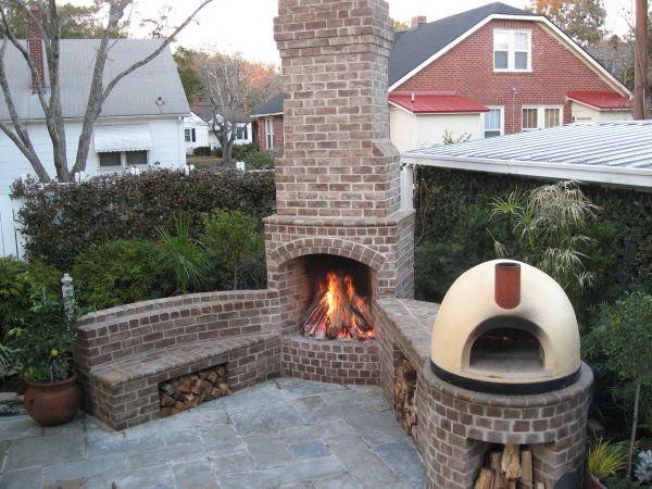 Outdoor Fireplace. Fireplace KitsBrick FireplaceOutside ...