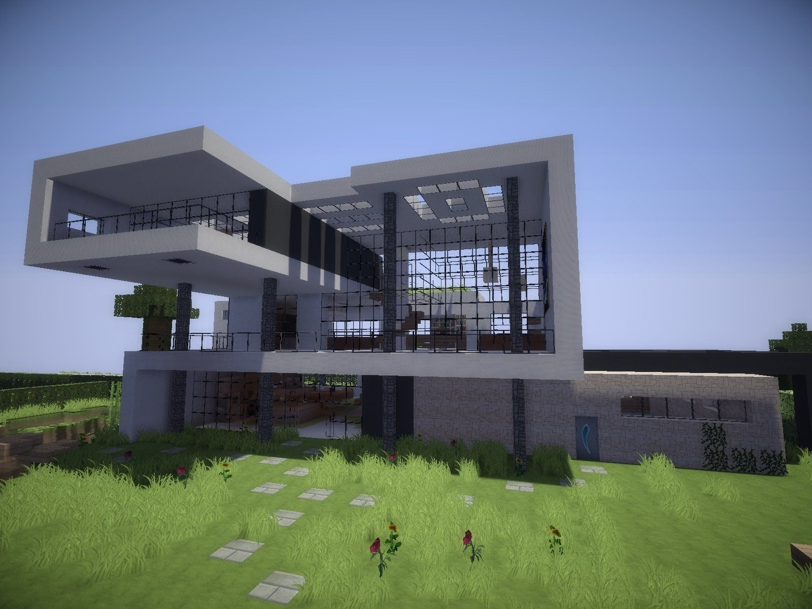Minecraft h user bauplan minecraft pinterest for Villa modern bauen