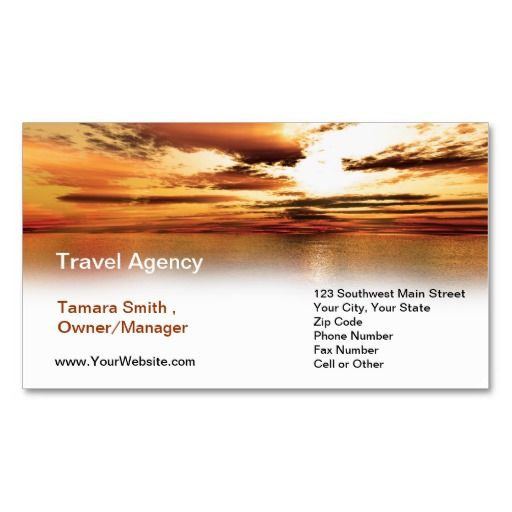 Travel Agency Business Card Template Travel Merchandise Group
