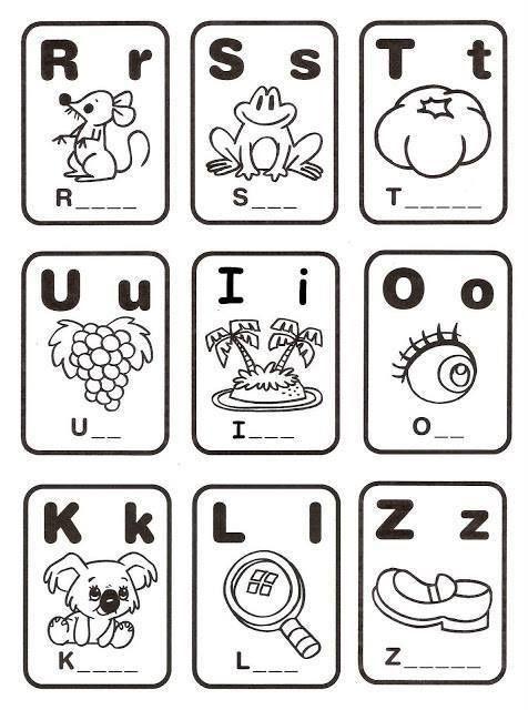 memorama de abecedario para preescolar y primer grado de primaria ...