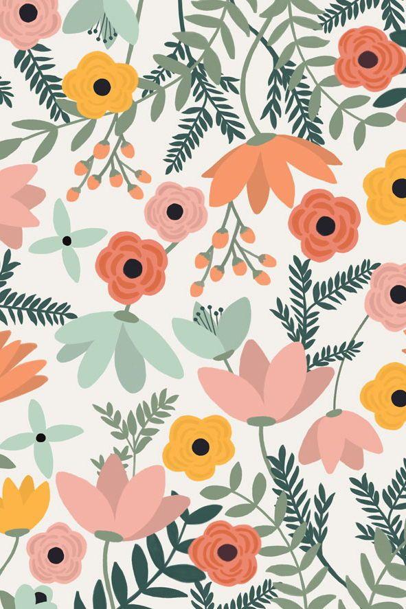 crez un sens dmerveillement et du plaisir dans la salle de jeux des enfants ou dans leur chambre avec notre papier peint fleurs de champs