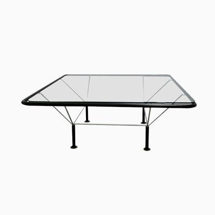 Italienischer Niedriger Tisch aus Metall \ Glas von B\B Italia - wohnzimmertische aus glas