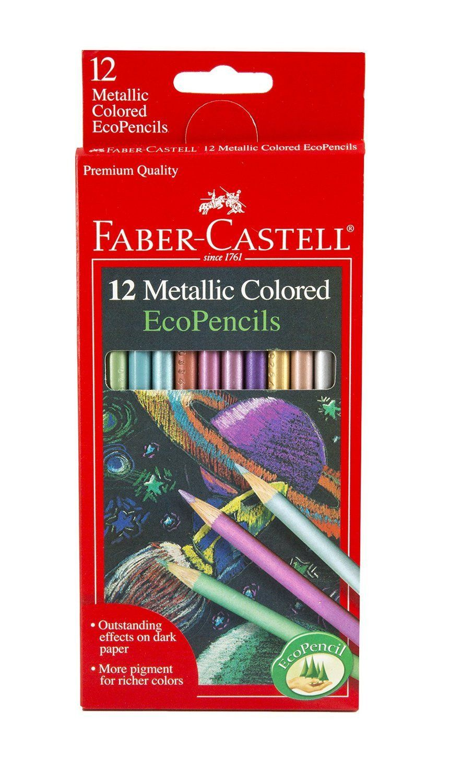 12 Count Metallic Colored Eco Pencils By Faber Castell Buntstifte Faber Castell Aquarellstift