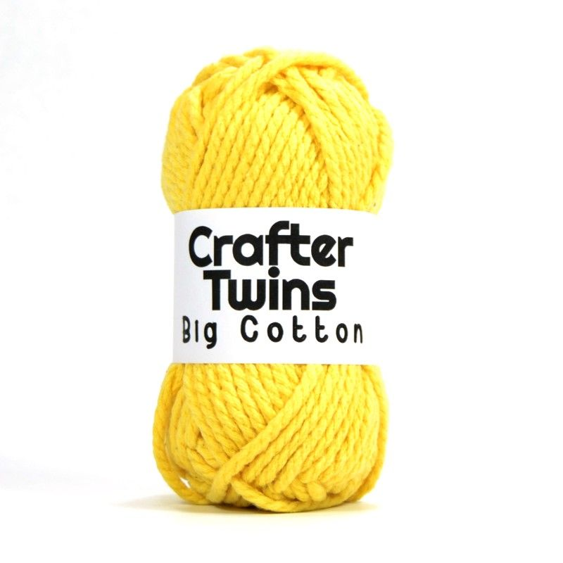 Crafter Twins Big Cotton yarn ball in yellow