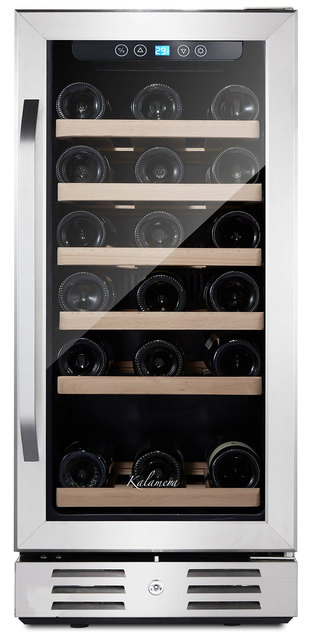 Amazon Com Kalamera 15 Wine Refrigerator 30 Bottle Built In Single Zone With Touch Control With Images Wine Refrigerator Built In Wine Refrigerator Built In Wine Cooler