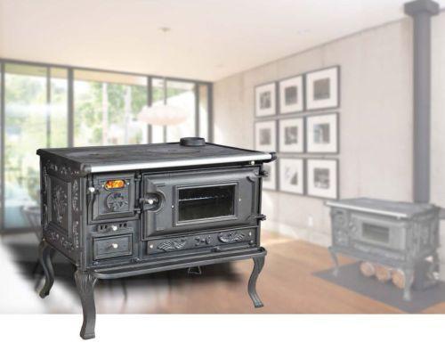 Dettagli su Cucina stufa con ampio forno a legna VIOMETALKO ...