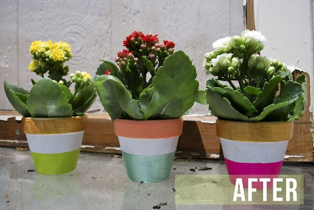 electric painted pots <3