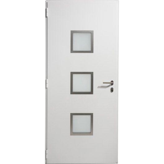 Porte entrée maison aluminium Seattle ARTENS poussant droit, H215 x