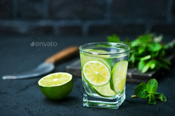 detox drink by tycoon101. drink with lemon and lime, detox drink