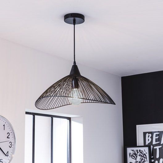 suspension design kastelli m tal noir 1 x 40 w seynave