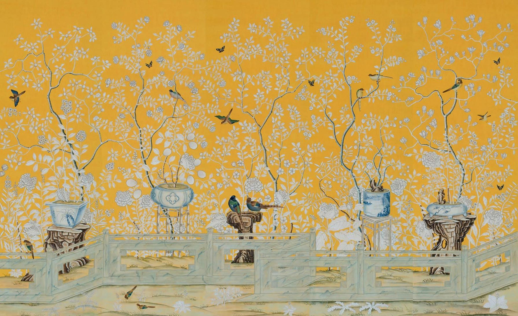Wallpaper from de Gournay: Home - English | | Material-wall covering ...