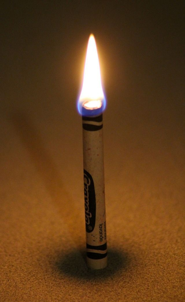Forget emergency candles. a crayon will burn for about 30 minutes 30 Outdoor Travel Hacks To Turn You Into A Backpacking Badass View The Recipe Details