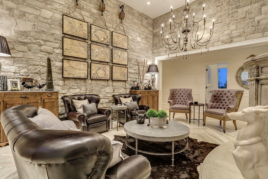 Rustic Contemporary Country Home Living Room
