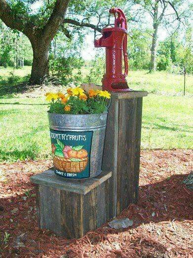 Something like this as center piece for garden around the ...