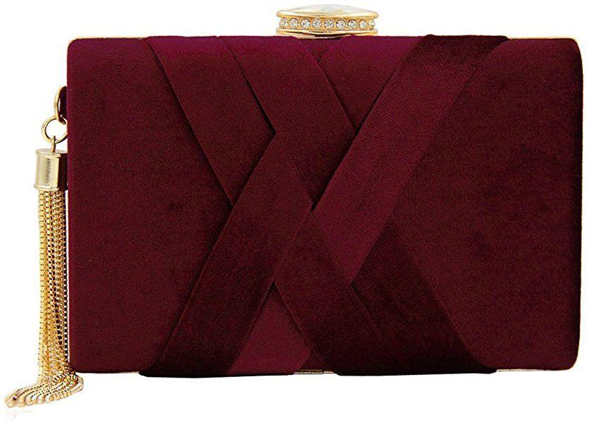 Dark Brown Wedding Clutch Bag Evening Bag Over Size Envelope Suede Prom Italy