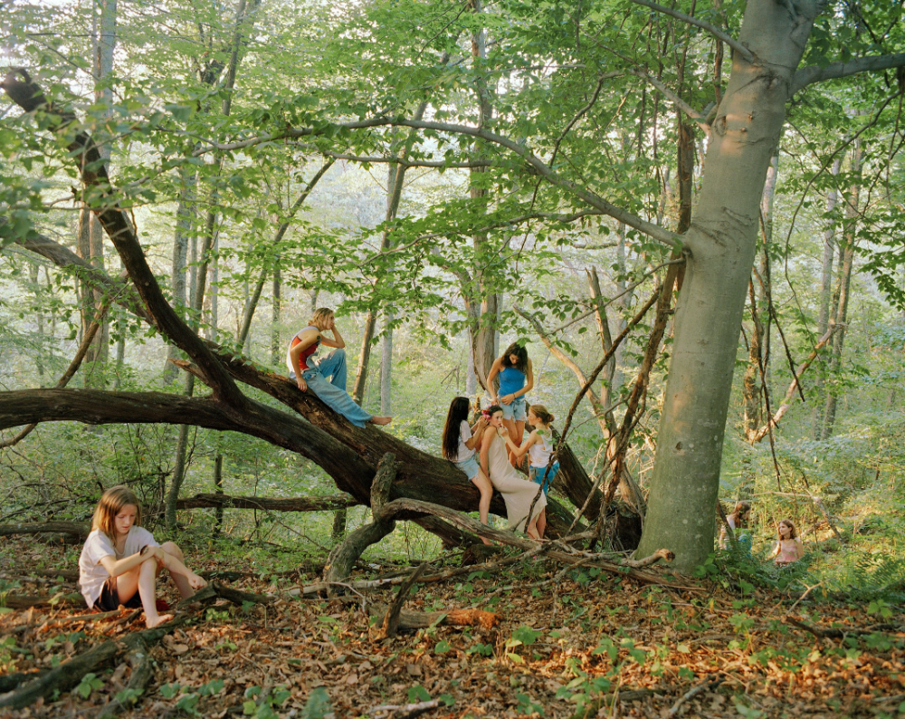 """Justine Kurland Captures the Lawless Energy of Teen-Age Girls   The New Yorker  """"Forest,"""" 1998"""