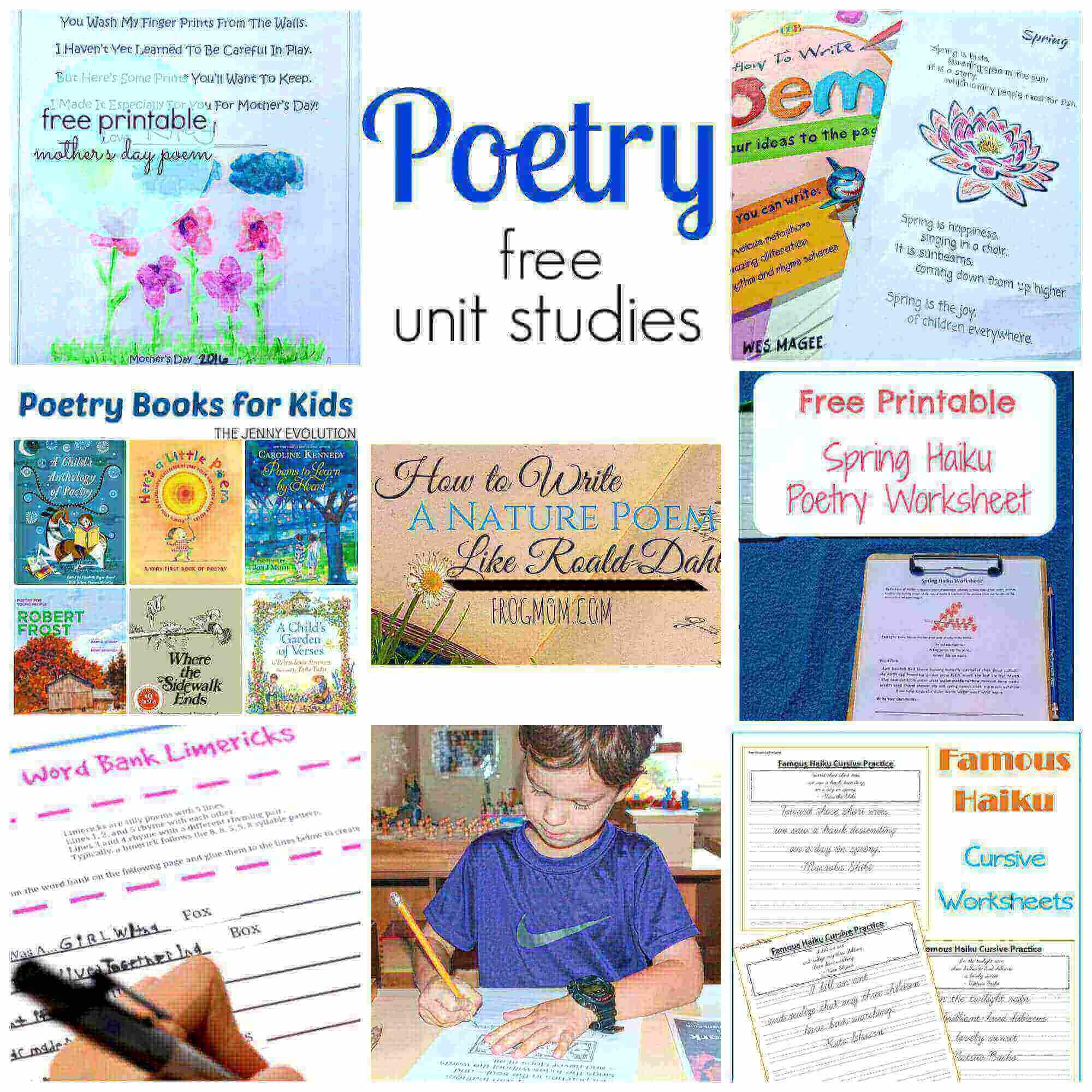 Poetry Printable Copywork For Kids
