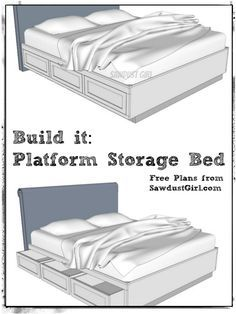 Cal King Platform Storage Bed Free Plans Diy Storage Bed Diy