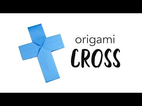 Easy Origami Cross Tutorial Easy Origami Origami And Kawaii