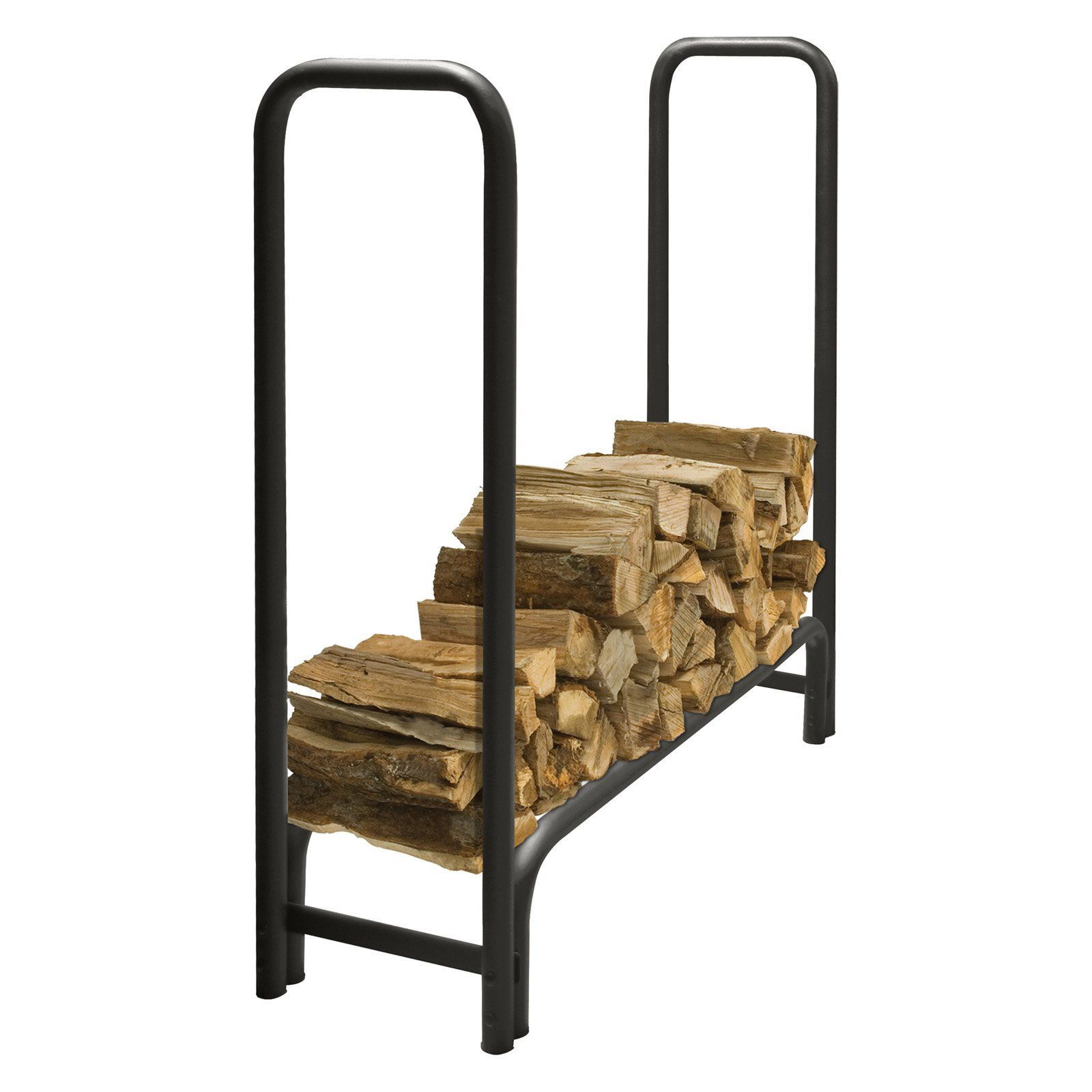 Pleasant Hearth LS938 Outdoor Steel Log Rack with Optional Cover ...