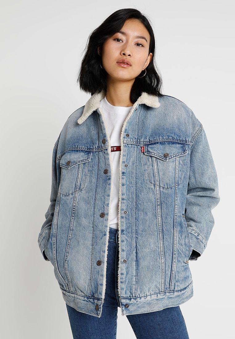 sherpa trucker giacca di jeans