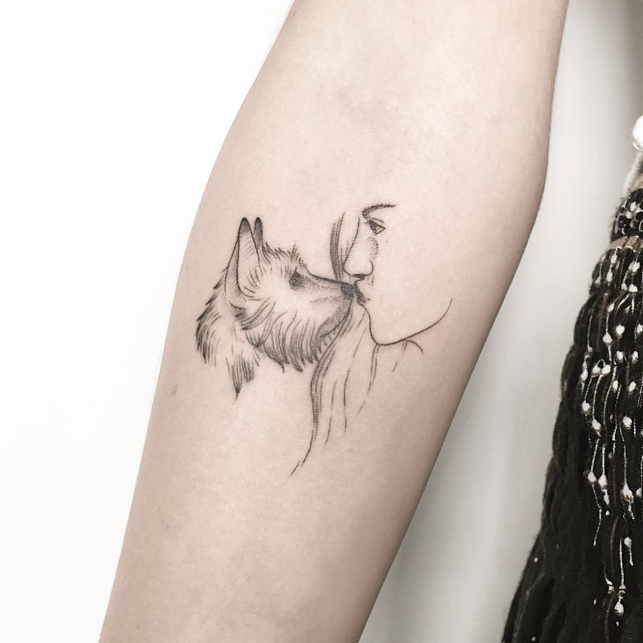 The 14 Best Yorkshire Terrier Tattoo Ideas Page 2 Of 3 Petpress In 2020 Dog Tattoos Small Dog Tattoos Tattoos