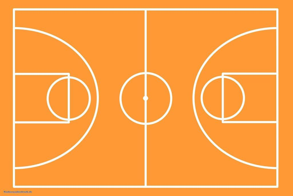 Basketballfeld Ca 28cm X 20cm Din A4 Fototorte