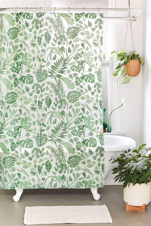 Jungle Peva Shower Curtain Floral Shower Curtains Curtains Curtains With Rings