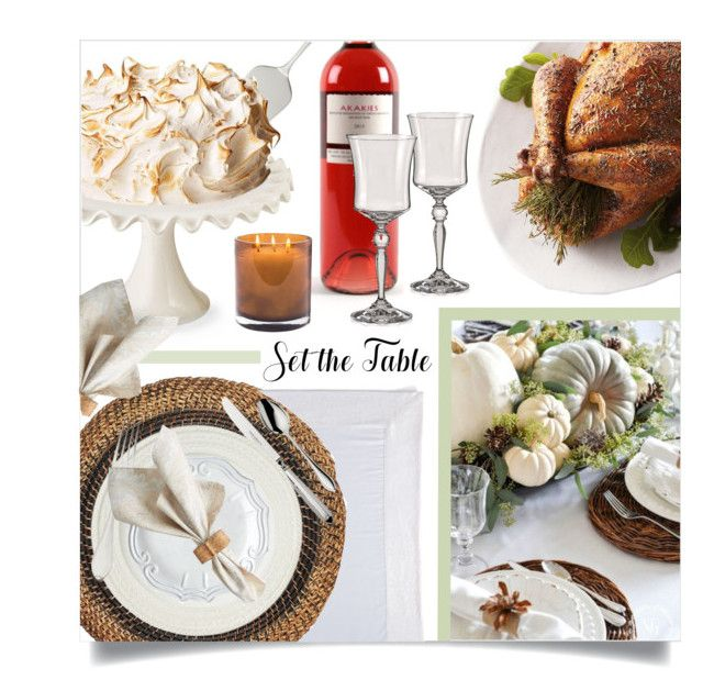 """""""set the table"""" by ailav9 ❤ liked on Polyvore featuring interior, interiors, interior design, home, home decor, interior decorating, Magenta, Robbe & Berking, Deborah Rhodes and Mode Living"""