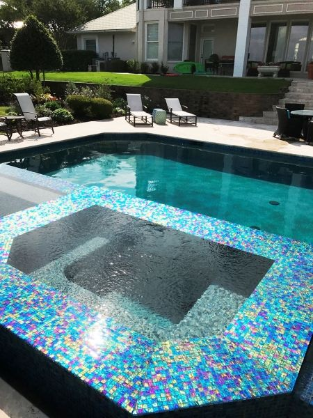 Rockwall Pool Design Dallas Photo Gallery Outdoor Living   Geometric Pool  And Spa