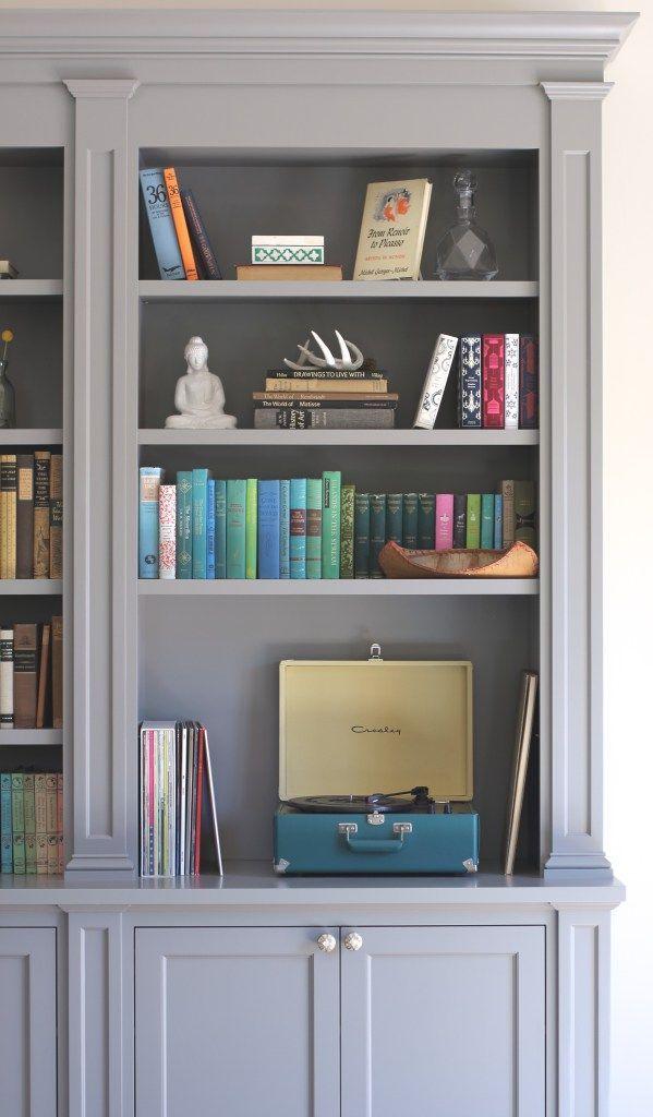 Built In Bookcase Megan Bachmann Interiors Benjamin Moore Chelsea Gray