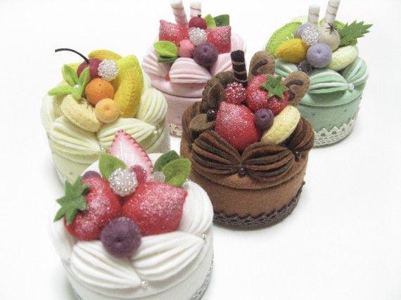 box felt cakes - Buscar con Google