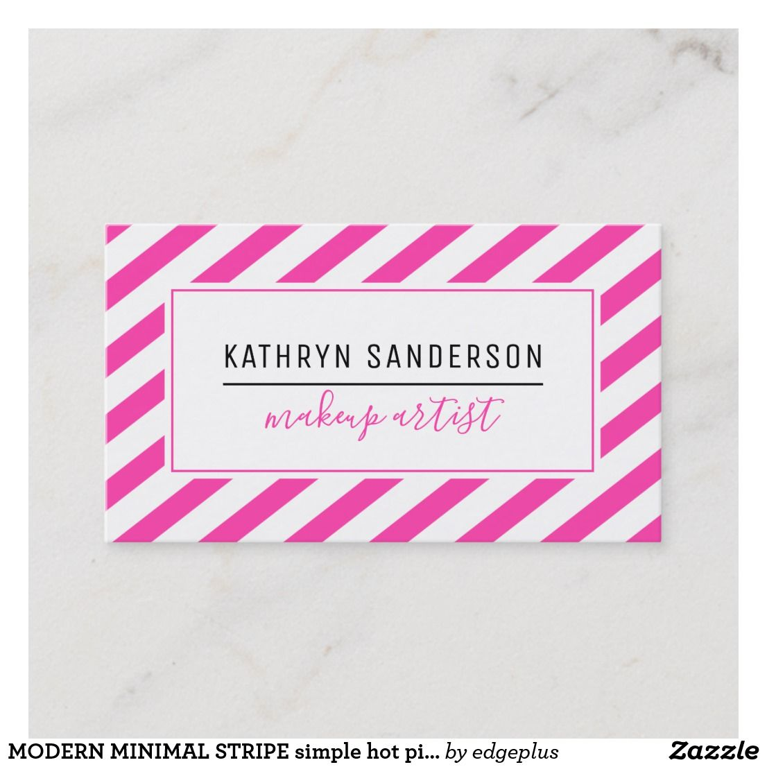 Hot Pink Business Card Design Pink Business Card Business Card Design Media Business Cards