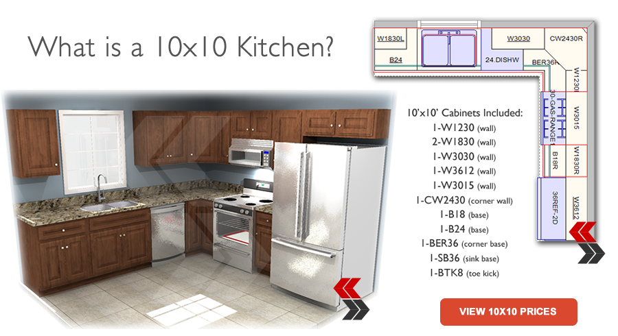What Is A 10x10 Kitchen 10x10 Kitchen Kitchen Layout Discount Kitchen Cabinets