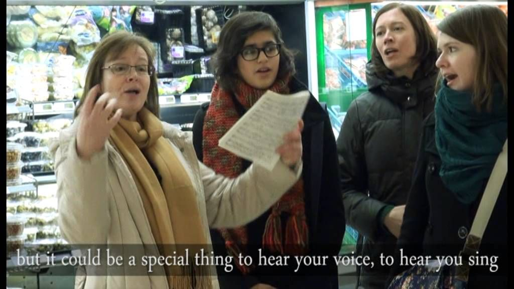 Can You Hear Me - Flashmob - Bob Chilcott is well known for his compositions for children's choirs, including Can You Hear Me, a simple and beautiful song describing the wonder of a world seen through the eyes of those who are deaf.