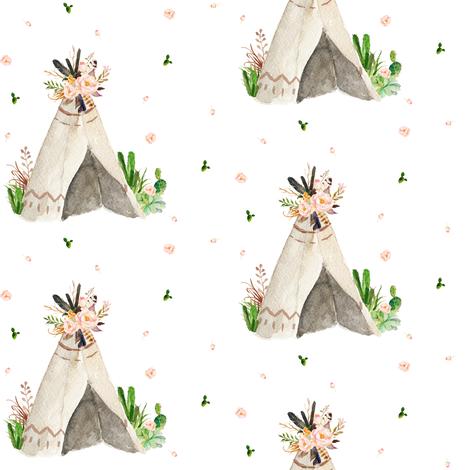 Dream Big Little One Teepee fabric by shopcabin on Spoonflower - custom fabric