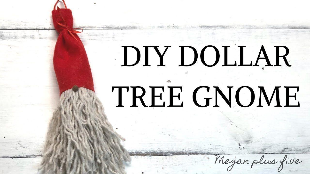 Dollar Tree Gnome Ornament Diy Easy Mop Head Gnome Youtube Gnome Ornaments Ornaments Diy Gnomes Crafts