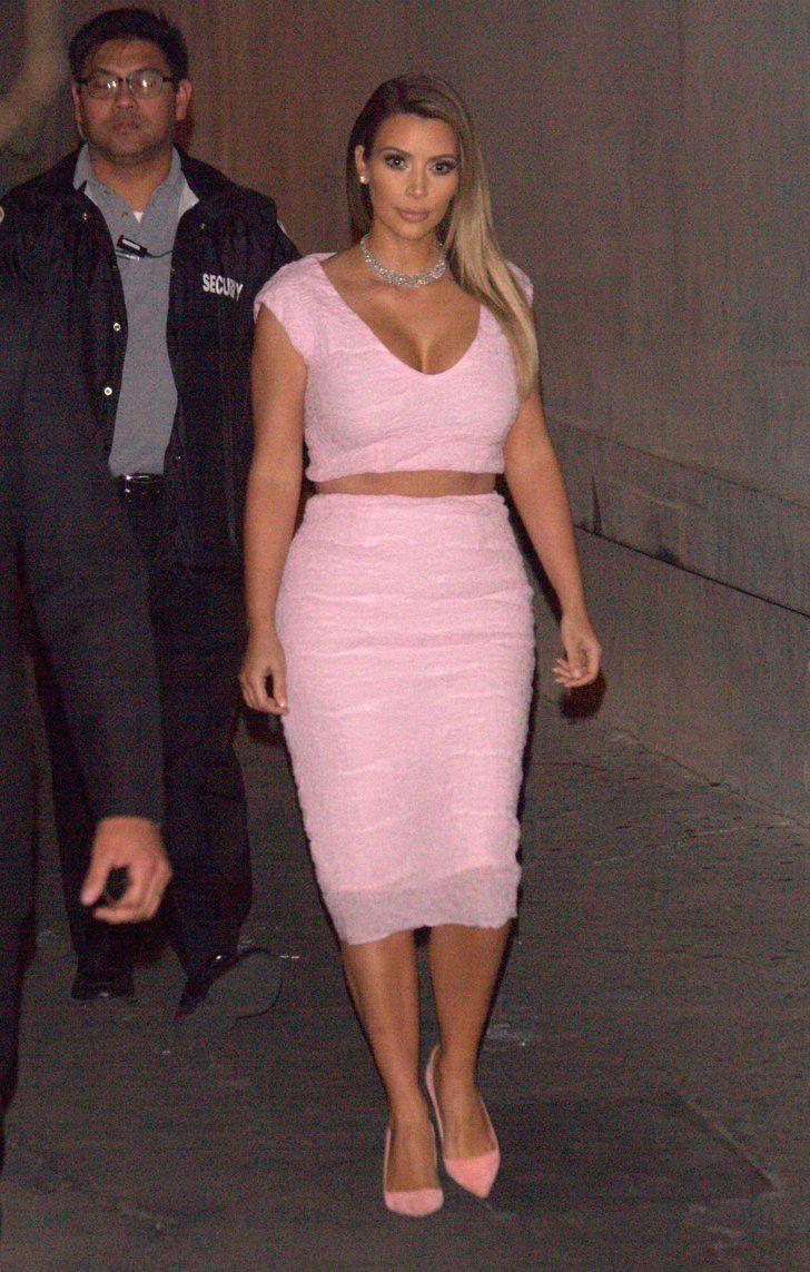 Pink cut out dress kim kardashian  Kim Kardashian in   Dior dress Kardashian and Dior
