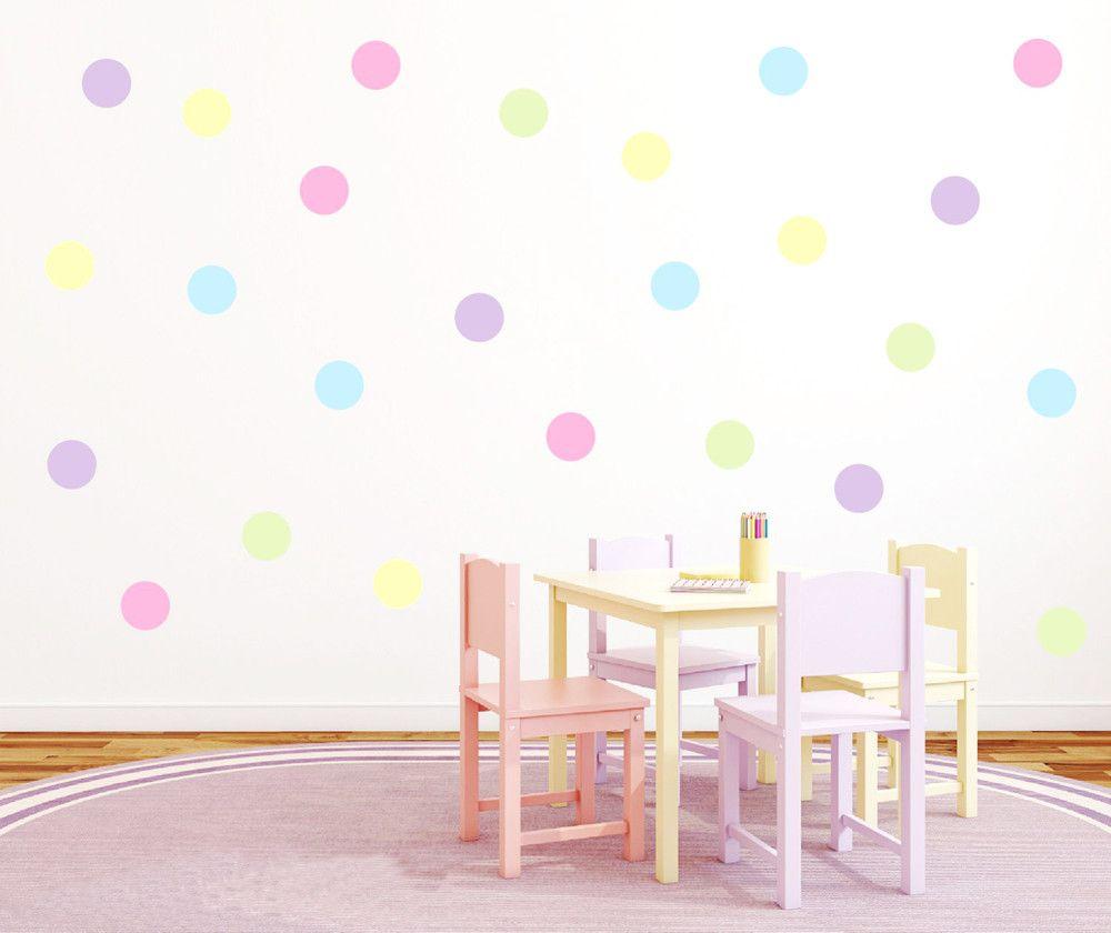 Naklejki Na ścianę Kropki Groszki Kolorki Mix Dużo