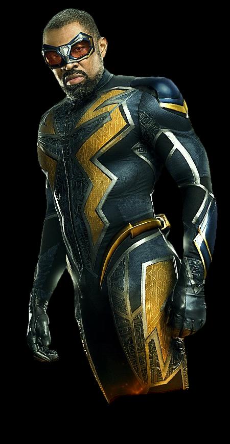 Black Lightning New Suit Png By Metropolis Hero1125 On Deviantart Black Lightning Black Comics Black Lightning Static Shock