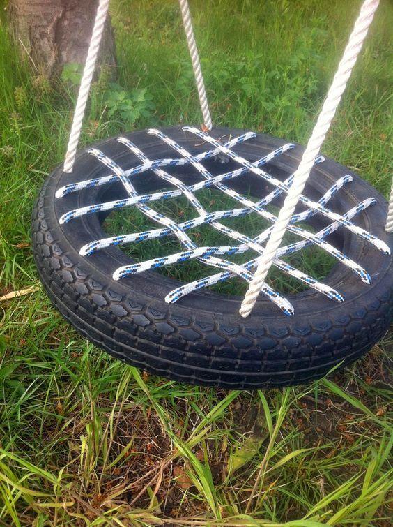 Ilses Enkel DIY Upcycling Kinderschaukel aus Reifen - alte autoreifen deko