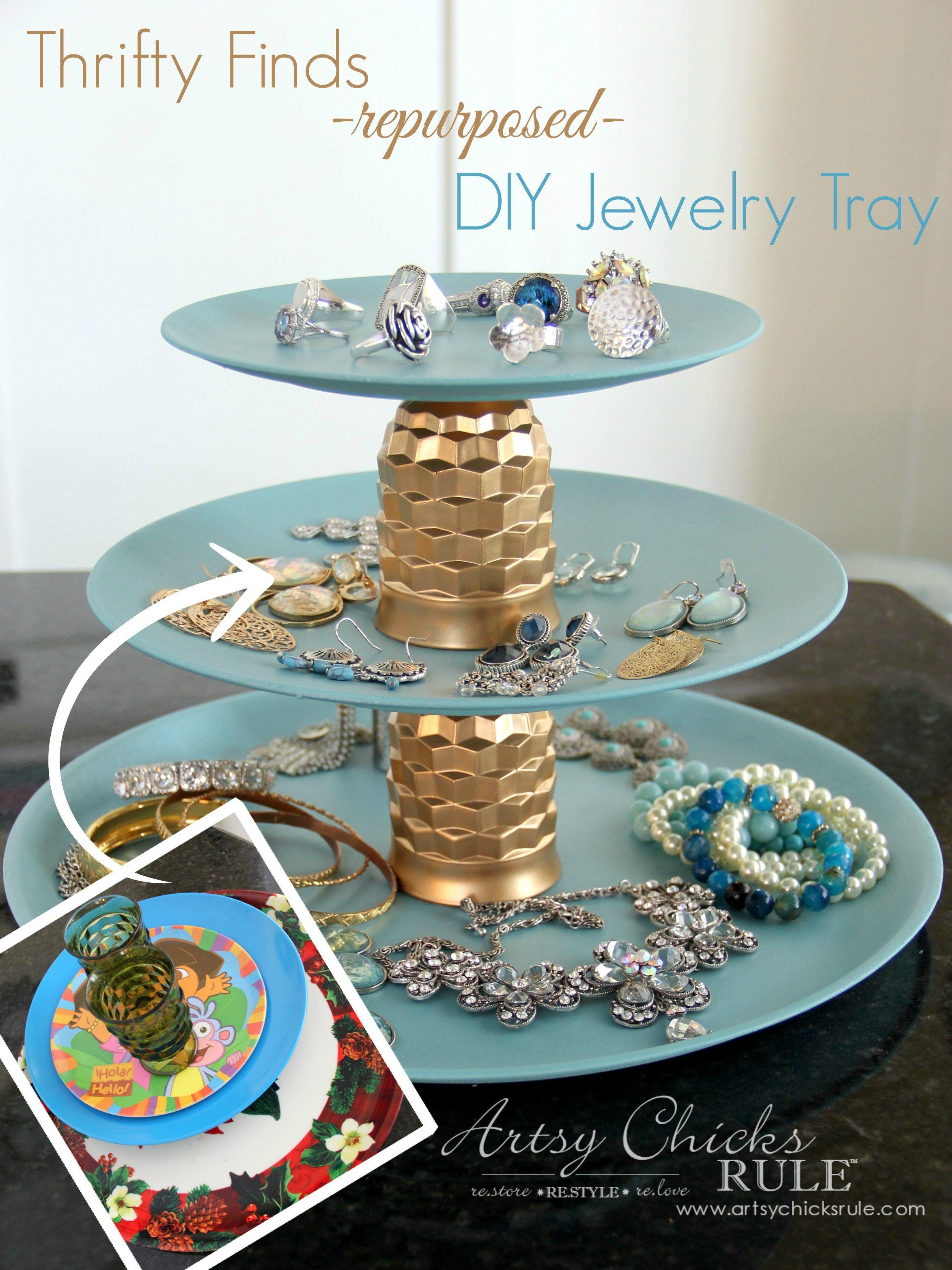 Thrifty Makeovers Repurposed (Swap it Like it's Hot. Diy Jewelry PlateDiy  Jewelry StandDiy ...