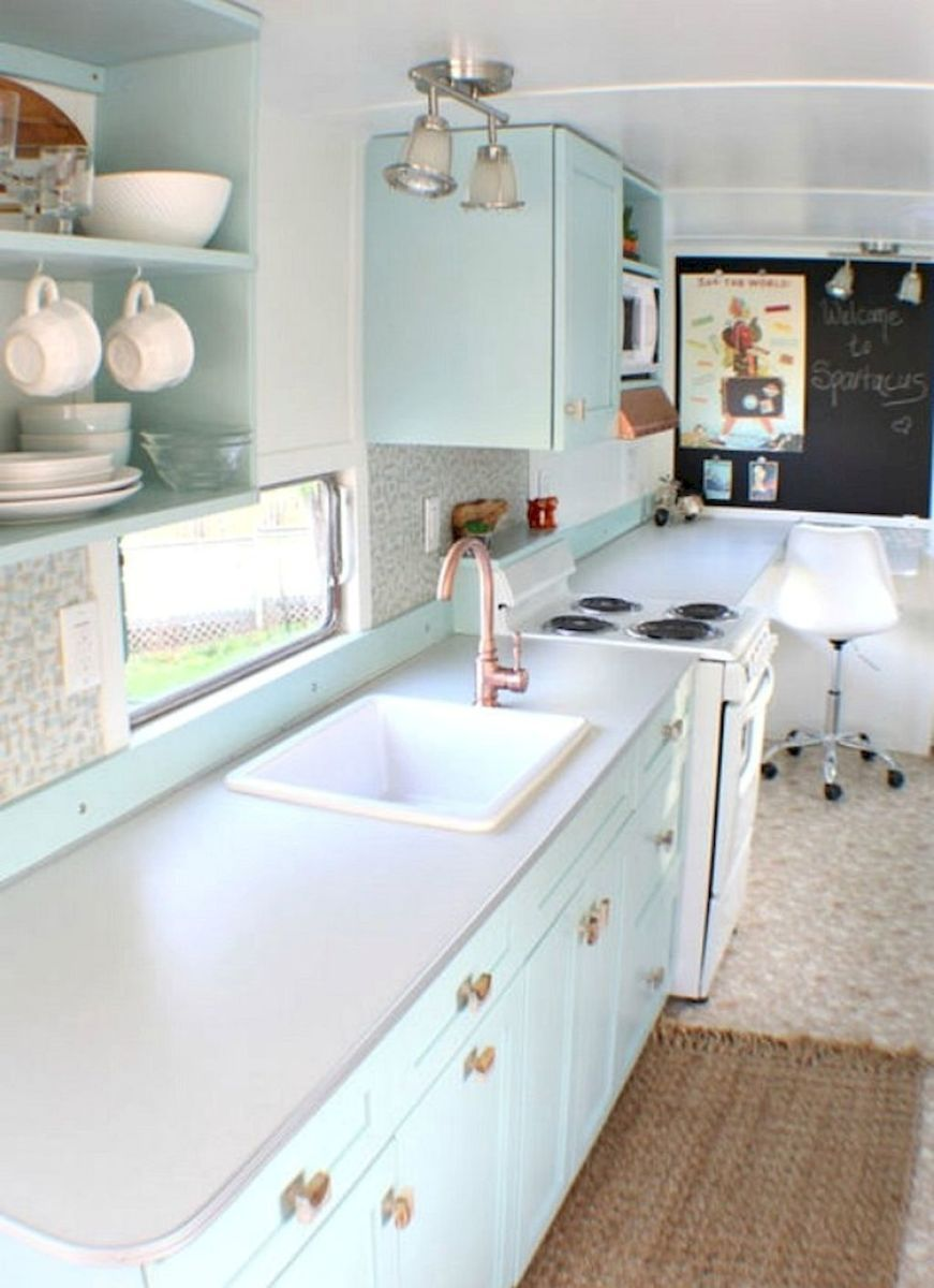 Travel Trailers Interior Ideas For Full Time Rv Living (56)