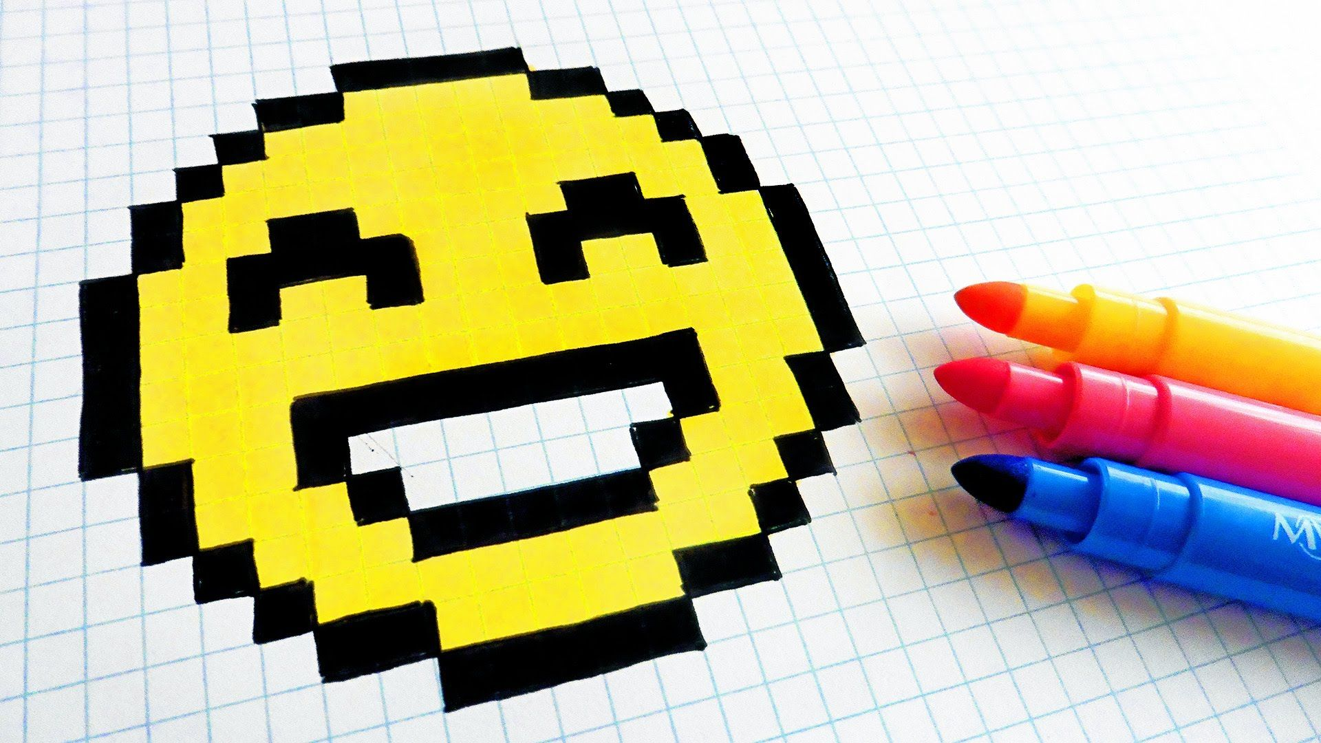 how to draw pixel art on paper