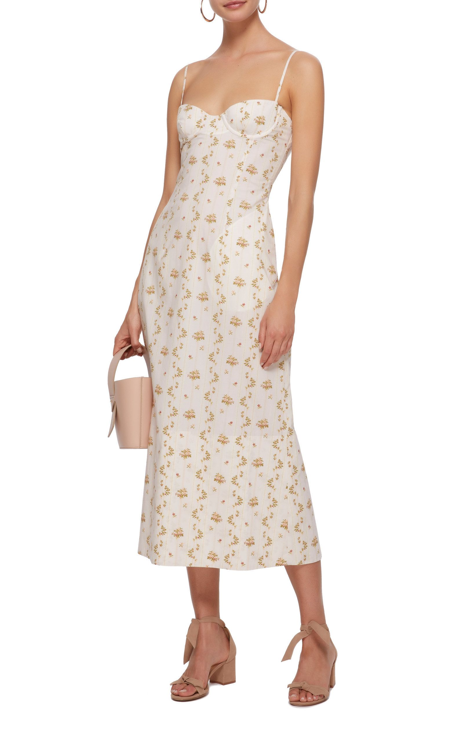 a6ccc708c6b65e Ofelia Printed Bustier Dress by BROCK COLLECTION Now Available on Moda  Operandi