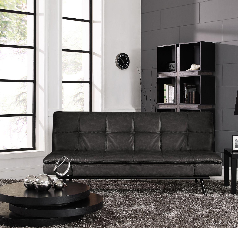 Serta Myst Convertible Charcoal Sofa Sofa upholstery